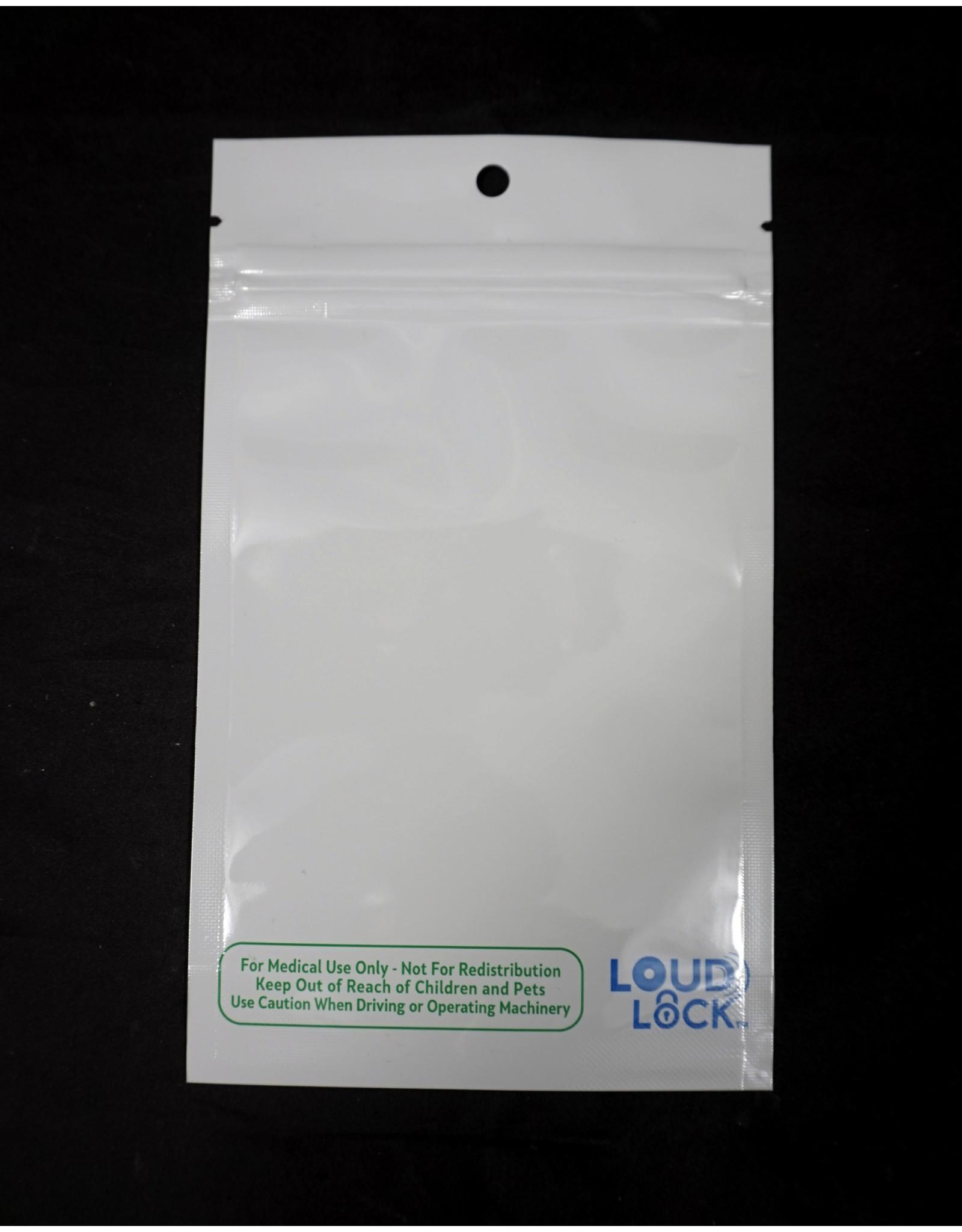 Loud Lock Loud Lock All States White Mylar Bags 1/4oz