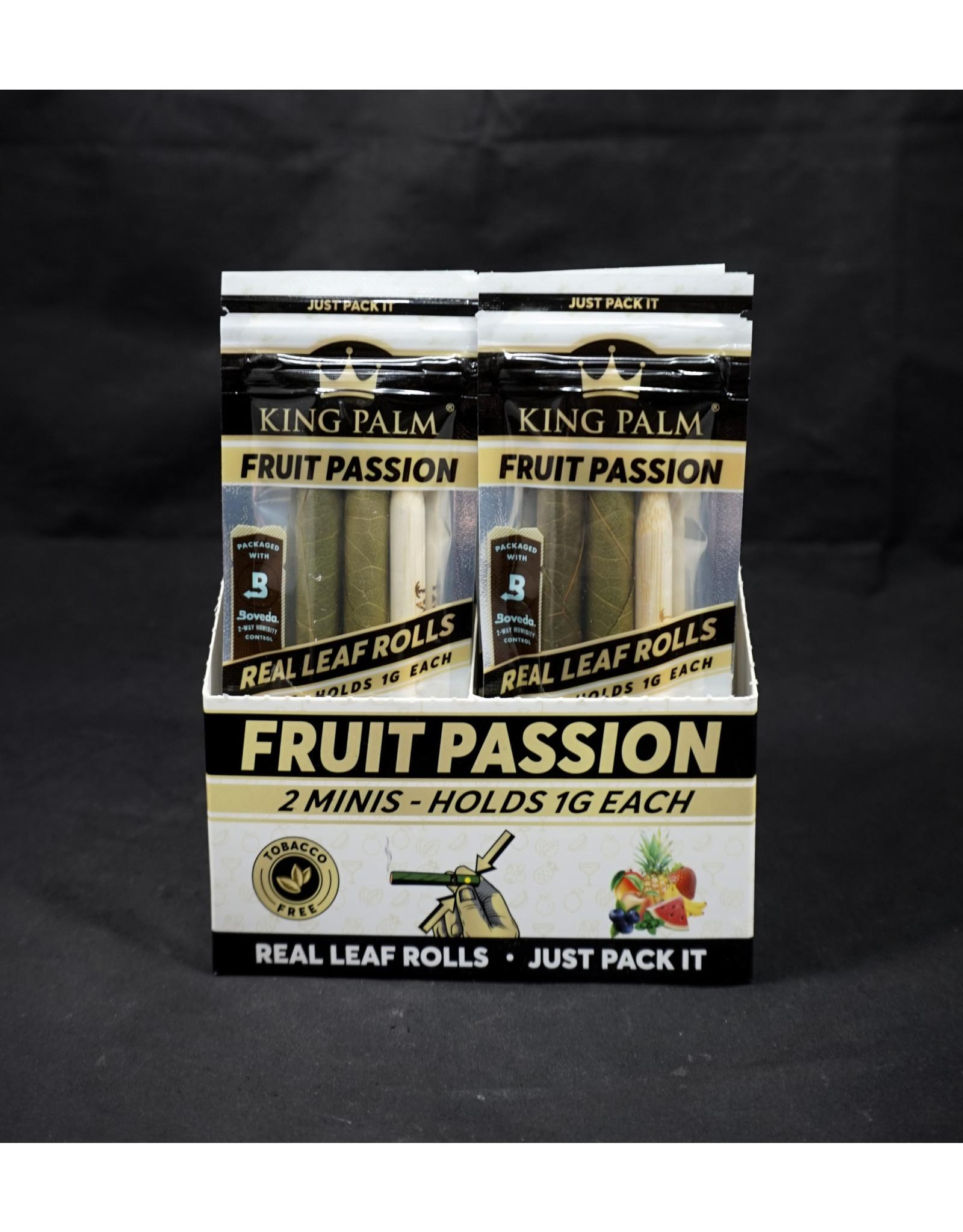 King Palm King Palm Pre-Roll Wraps – 2pk Mini Fruit Passion