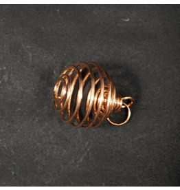 Tumbled Stone Cage Copper Large