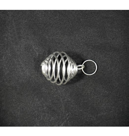 Tumbled Stone Cage Silver Small