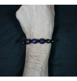 Magnetic Hematite Bracelet - Amethyst