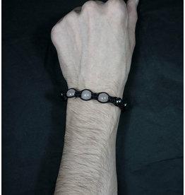 Magnetic Hematite Bracelet - Rose Quartz