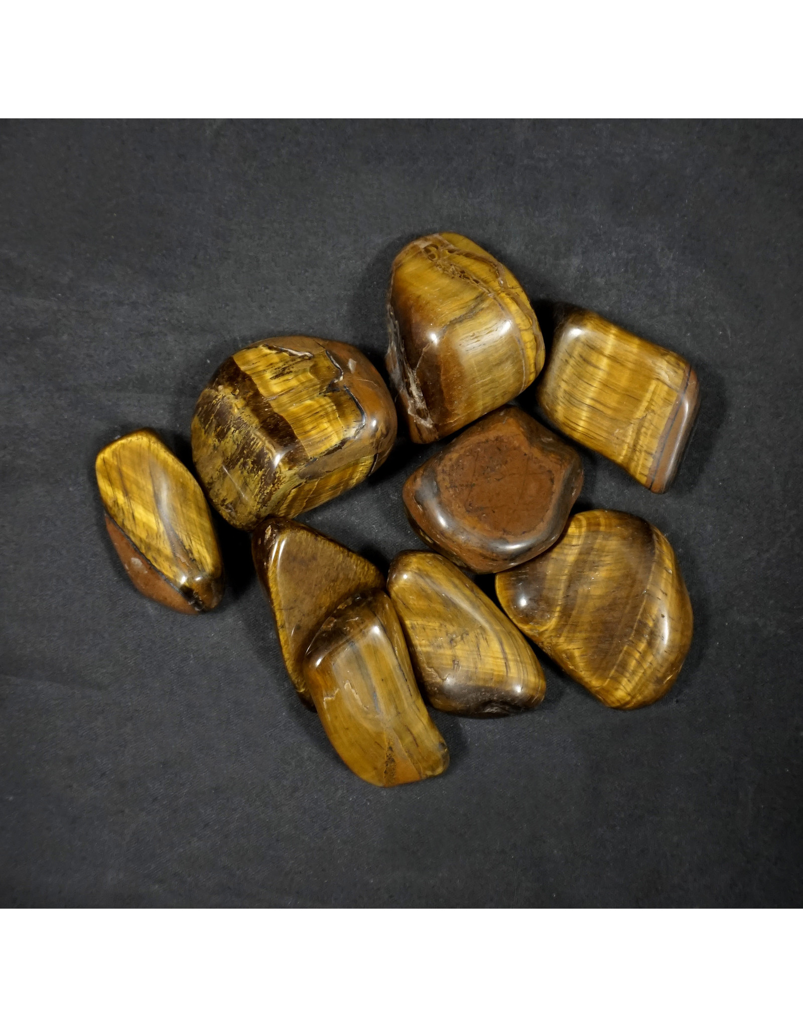 Gold Tiger's Eye Large Tumbled Stone