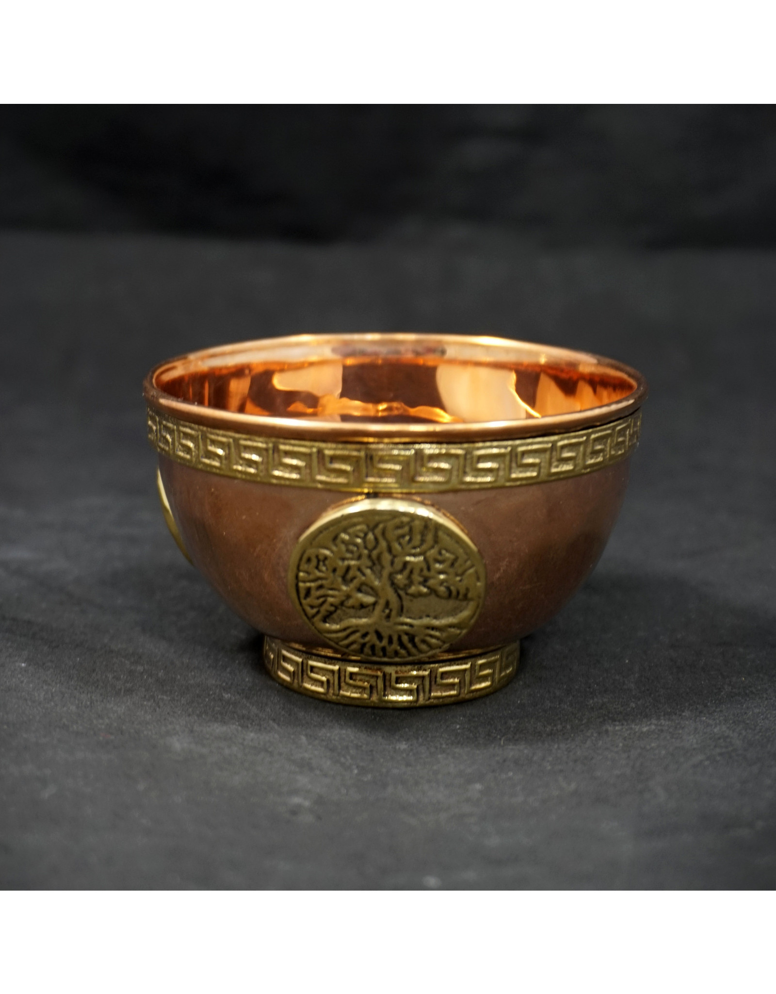 Copper Bowl Incense & Charcoal Burner Tree Of Life