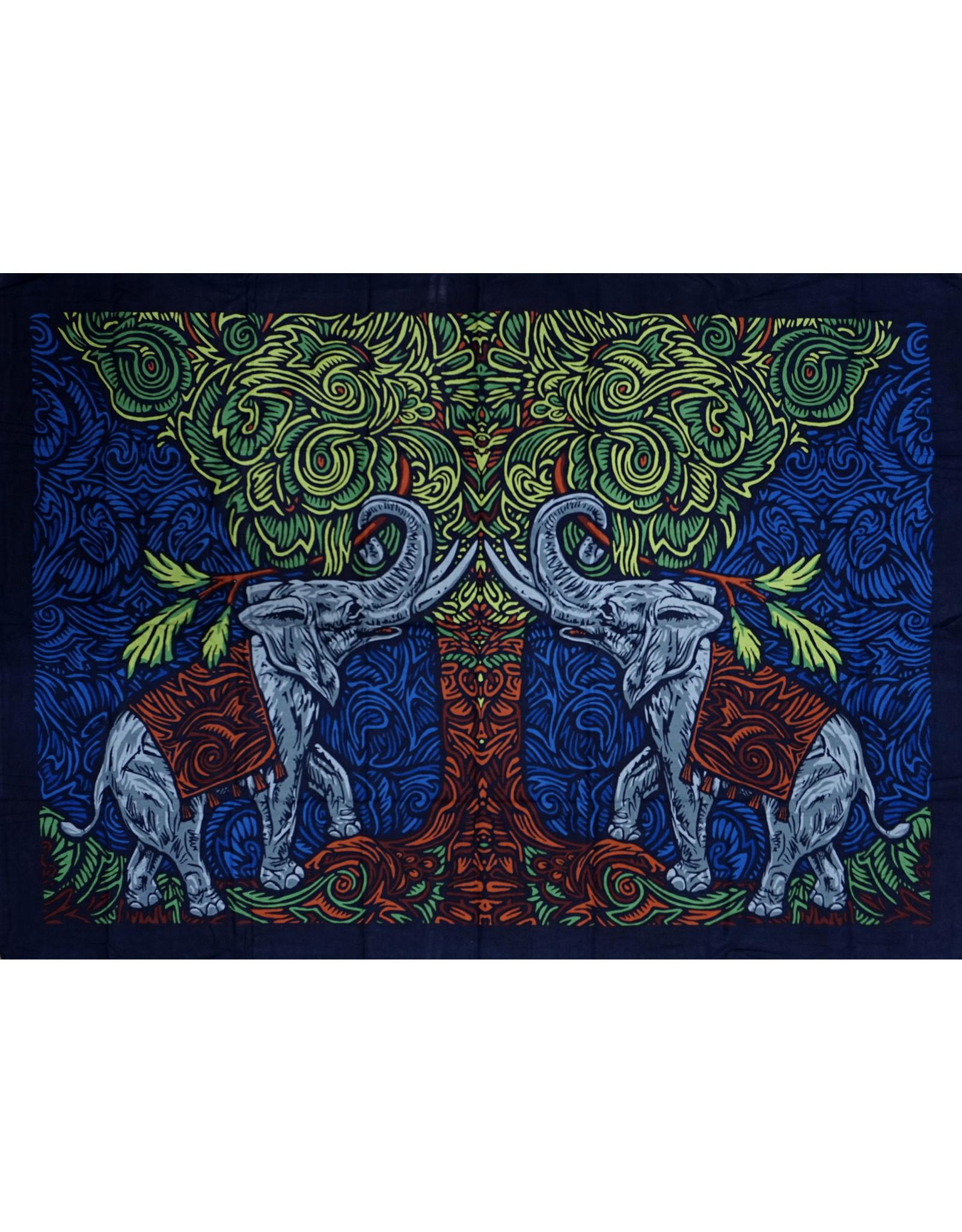 3D Elephant Tree Mini Tapestry