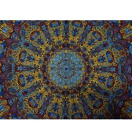 3D Psychedelic Sunburst Mini Tapestry
