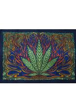3D Hot Leaf Mini Tapestry