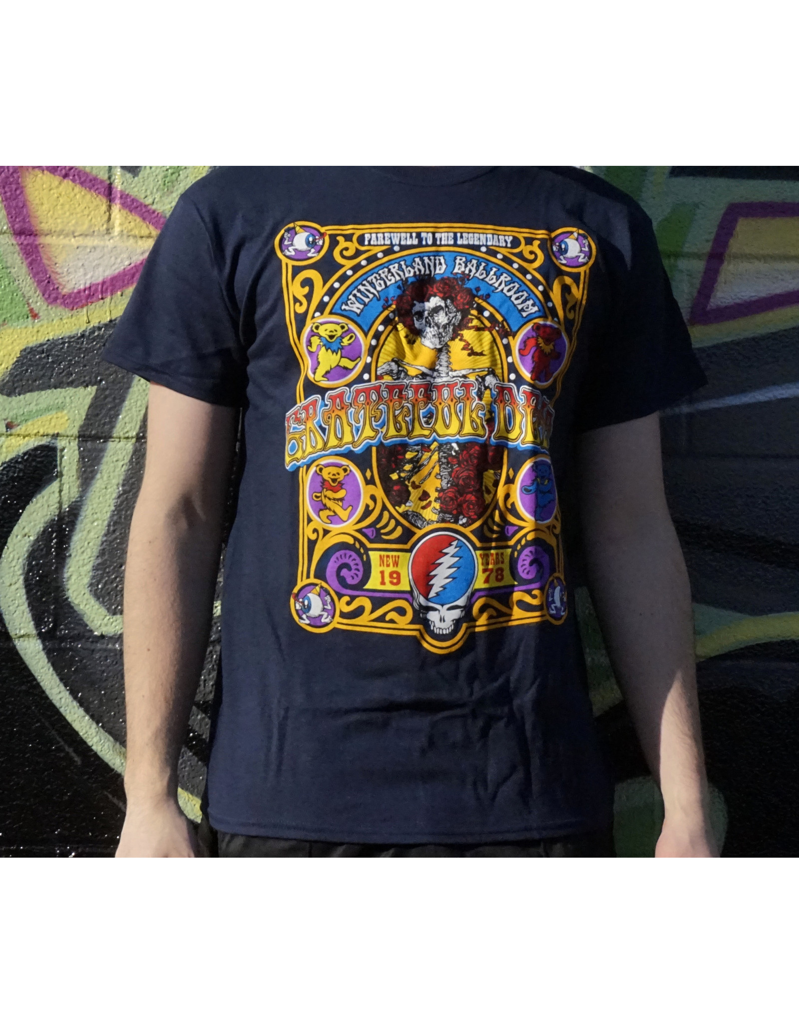 Navy Closing Of Winterland Grateful Dead Shirt -