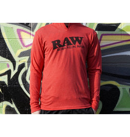 Raw Raw Heather Red Lightweight Hoodie - Medium