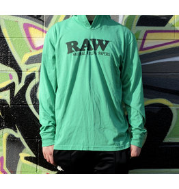 Raw Raw Envy Green Lightweight Hoodie - XLarge