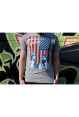 Cheech & Chong's Up in Smoke Heather Gray Red White Blue Green Cheech & Chong Shirt