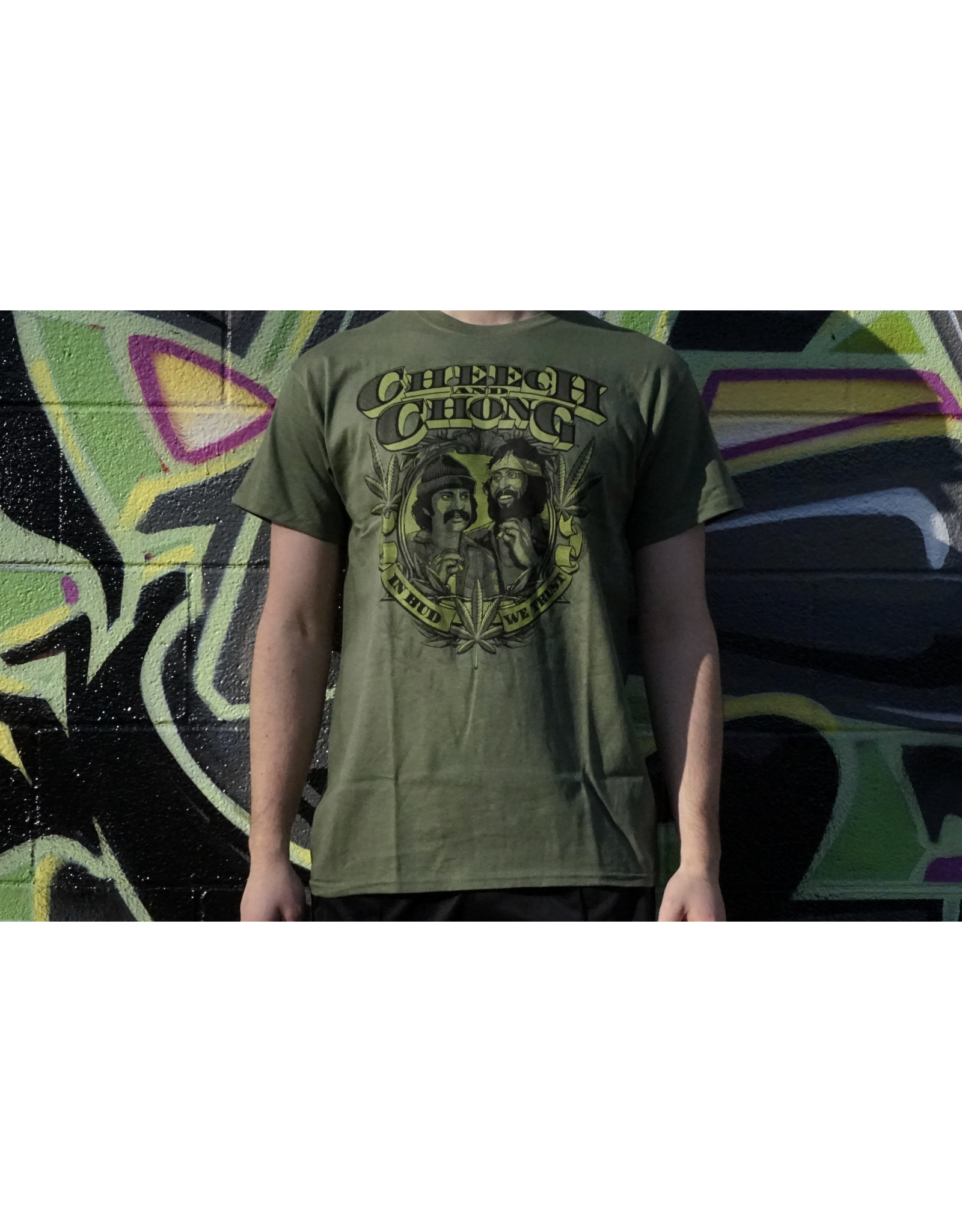 Cheech & Chong's Up in Smoke Green In Bud We Trust Cheech & Chong Shirt