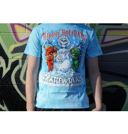 Black Hippie Holiday Christmas Shirt -