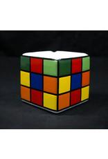 Colorful Puzzle Cube Design Ceramic Ashtray