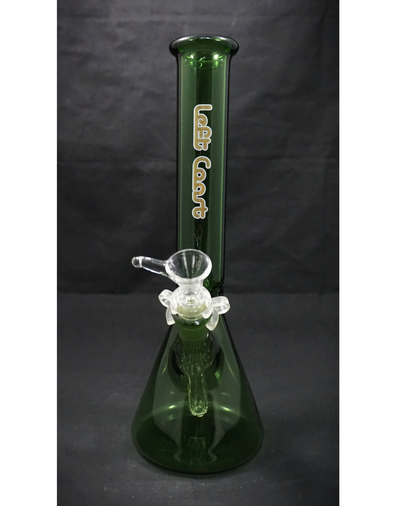 "Left Coast Left Coast 10"" Green Beaker 5mm Gold"