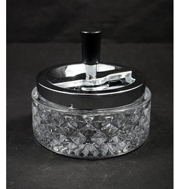 Glass Spinning Ashtray - Clear