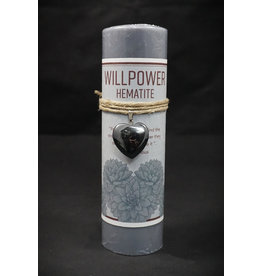 Heart Pendant Candle - Hematite Willpower