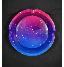 Polyresin Galaxy Ashtray - Blue/Pink