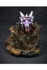 Backflow Incense Burner - Dragon w/ LED Light 5""