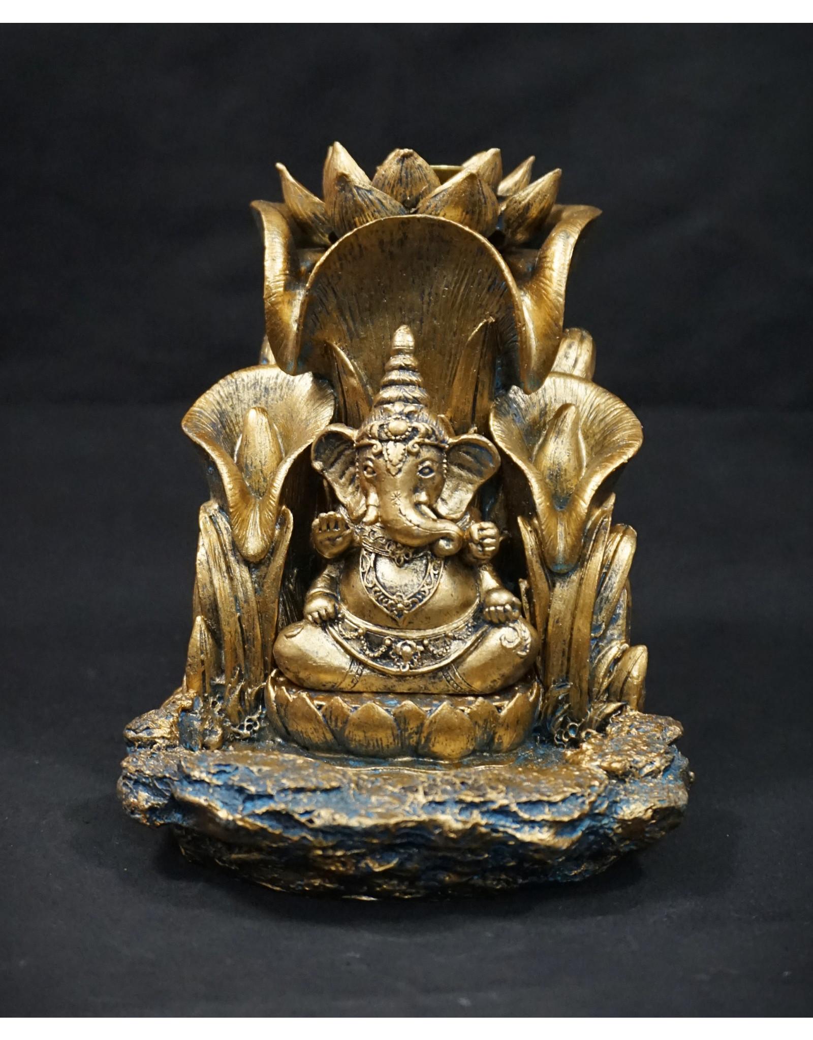 """Ganesha Backflow Incense Burner 5.5"""""""