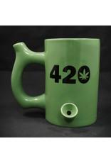 Ceramic Pipe Mug – Roast and Toast 10oz Green w/ Rasta 420