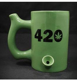 Ceramic Pipe Mug – Roast and Toast 10oz Green w/ 420