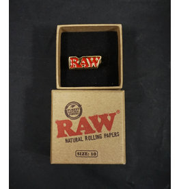 Raw Raw Smoker Ring with Gold Finish – Size 10