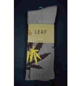 Leaf Socks - Tan with Brown Yellow Leaves