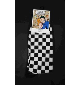 FineFit Socks - Black Checkered Socks