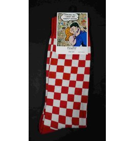 FineFit Socks - Red Checkered Socks