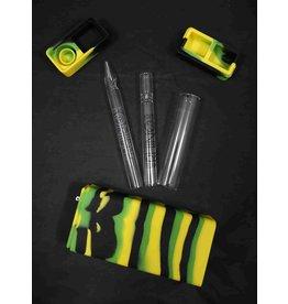 White Rhino Silicone Dab Kit Green/Black/Yellow