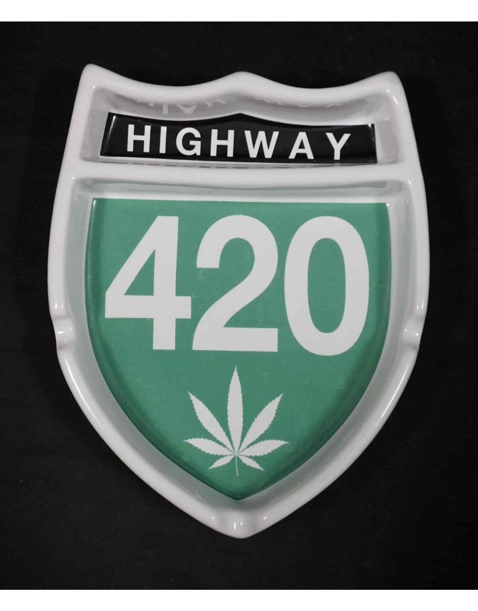 Highway 420 Ceramic Ashtray