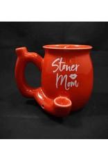 Ceramic Pipe Mug – Roast and Toast Stoner Mom Red