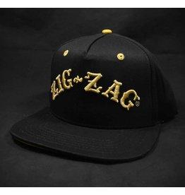 ZigZag Papers Zig-Zag Logo Snapback Hat - Black & Gold