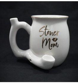 Ceramic Pipe Mug – Roast and Toast Stoner Mom White