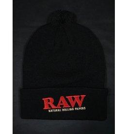 Raw Raw Knit Hat - Black