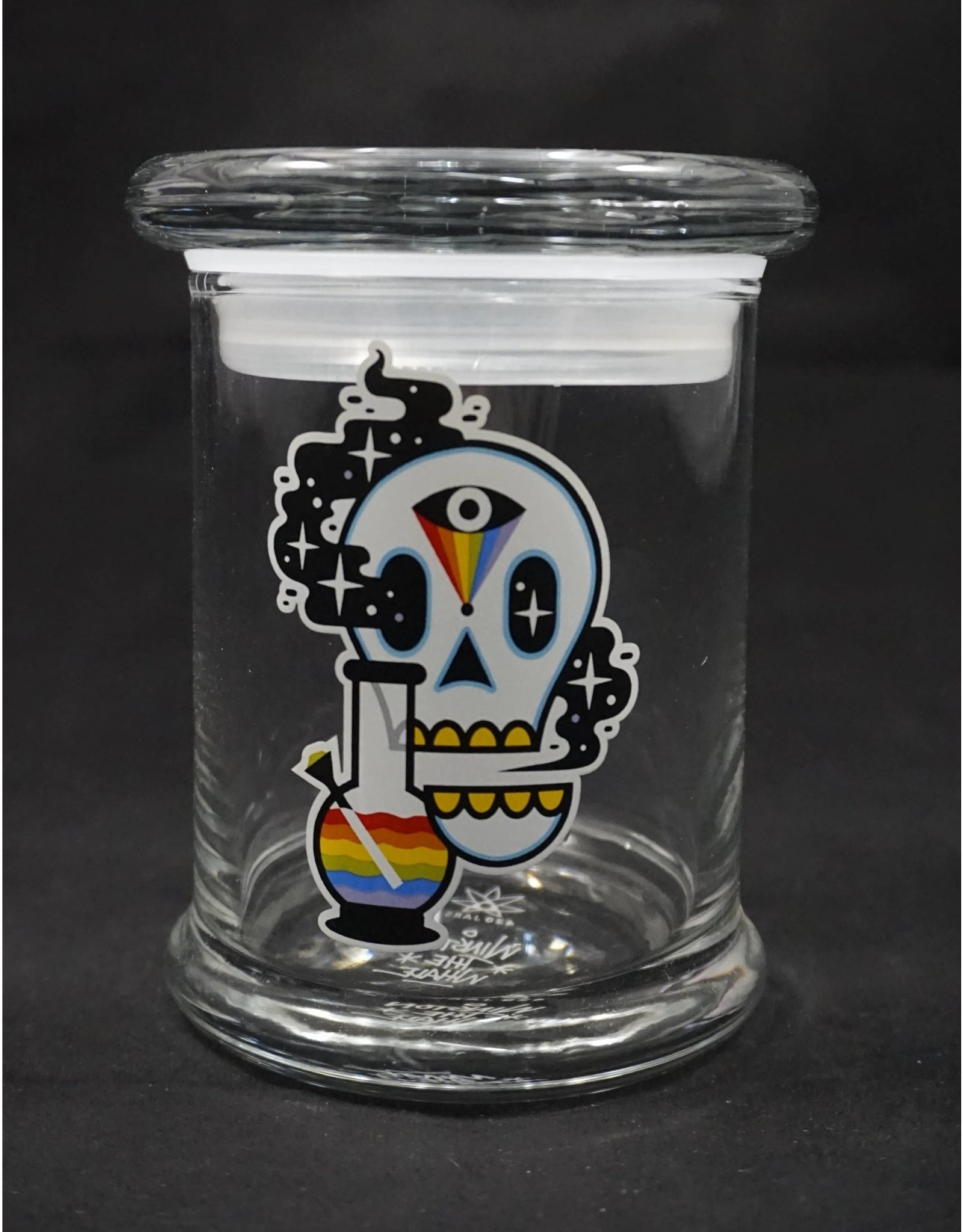 420 Science 420 Science Jars Medium Cosmic Skull Pop Top