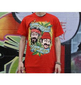 Red Smoke Now High Later Cheech and Chong Shirt -