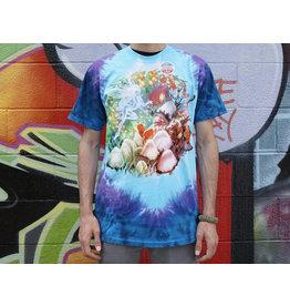 Tie Dye Mushroom Garden Light Fantasy Shirt -