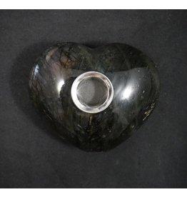 """Gemstone 4"""" Hand Pipe - Kyanite Heart"""