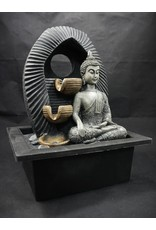 Buddha with Two Tiers Fountain