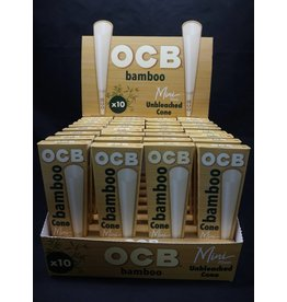 OCB OCB Bamboo Unbleached Cones Mini 10pk