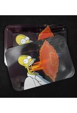 Bart Simpson FlameThrower Metal Rolling Tray w/ Magnetic Lid
