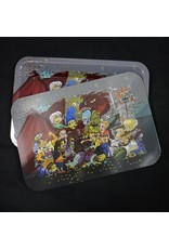 Castle Small Metal Rolling Tray w/ Magnetic Lid