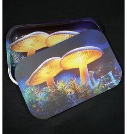 Pulsar Pulsar Medium Metal Rolling Tray w/ Lid - Mystical Mushrooms