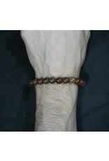 Elastic Bracelet 8mm Round Beads – Purple Aventurine