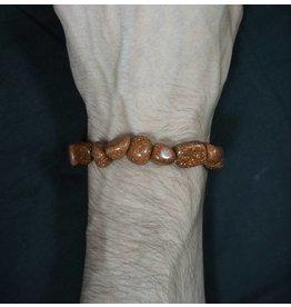 Tumbled Stone Bracelet - Goldstone