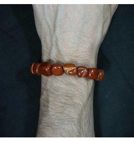 Tumbled Stone Bracelet - Red Jasper