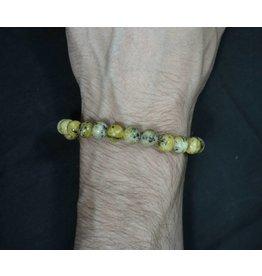 Elastic Bracelet 8mm Round Beads – Serpentine