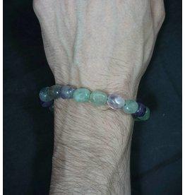 Tumbled Stone Bracelet - Fluorite